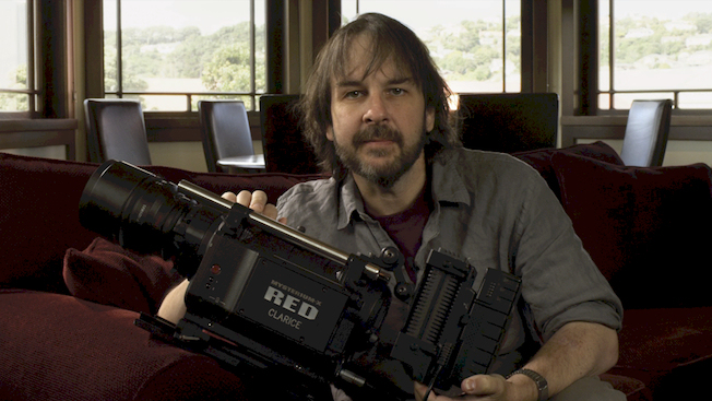 Peter Jackson e uma das 30 RED Epics 5K usadas nas filmagens de Hobbit.